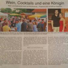 Presse: Wein, Cocktails und eine Königin