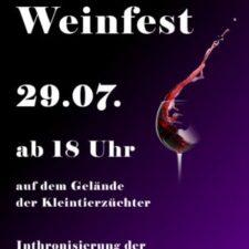 Ankündigung: Weinfest am 29.07.2017