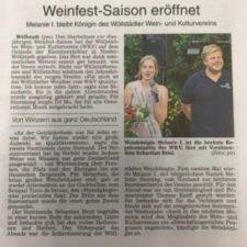 Presse: Weinfest-Saison eröffnet