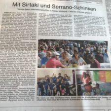 Presse: Mit Sirtaki und Serrano-Schinken