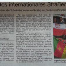 Presse: Erstes Internationales Straßenfest