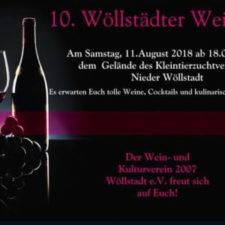 Ankündigung: Weinfest am 11.08.2018